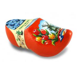 Blumen-Holzschuhe Orange