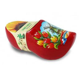 Blumen-Holzschuhe Rot