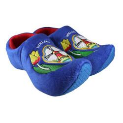 Holzschuh Pantoffeln Blau...